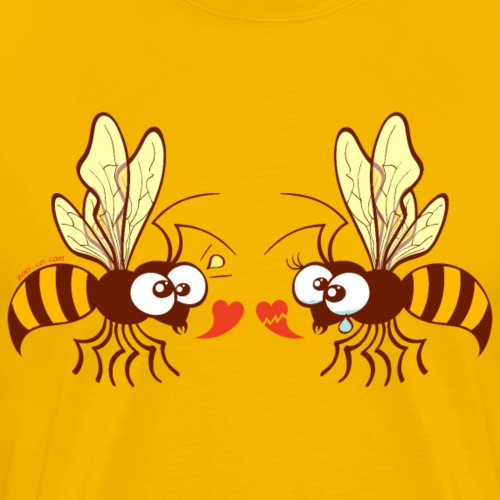 Bees expressing opposite points of view about love - Men's Premium T-Shirt