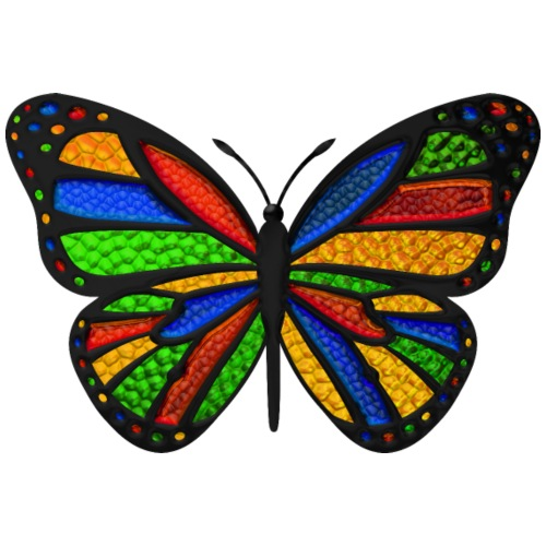 Stained Glass Butterfly - Men's Premium T-Shirt