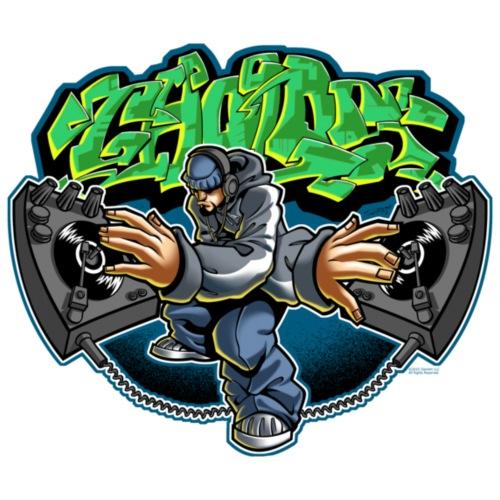Cholo Disc by RollinLow - Men's Premium T-Shirt
