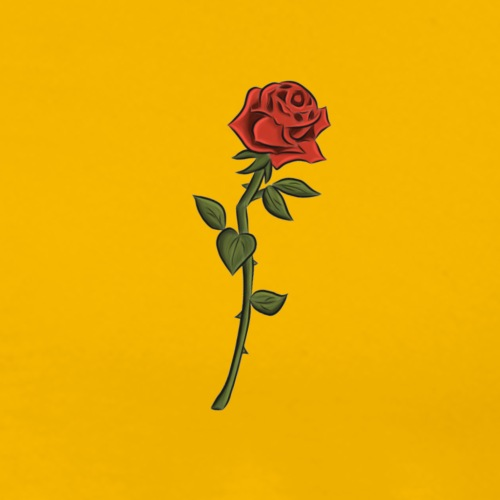 Single rose - Men's Premium T-Shirt