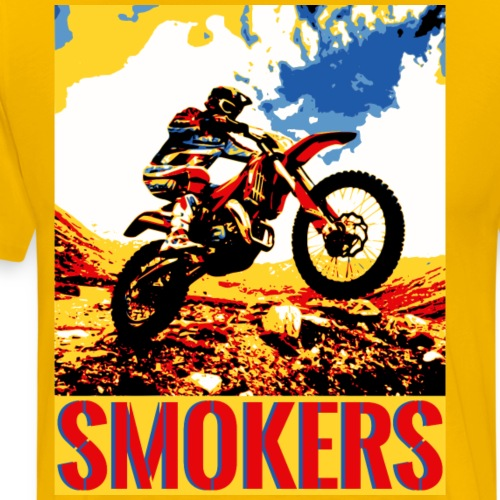 Two Stroke Smokers Dirt Bike - Men's Premium T-Shirt