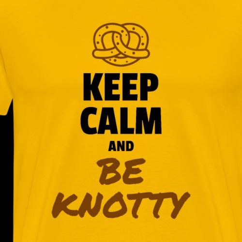 Keep Calm and Be Knotty Pretzel - Men's Premium T-Shirt