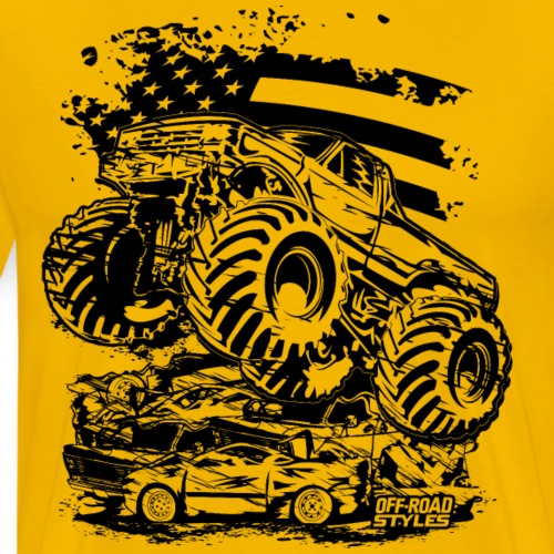 Monster Truck USA - Men's Premium T-Shirt
