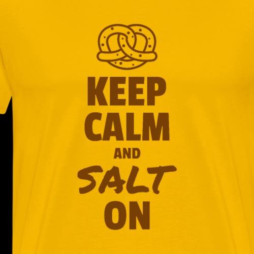 Keep Calm and Salt On - Men's Premium T-Shirt