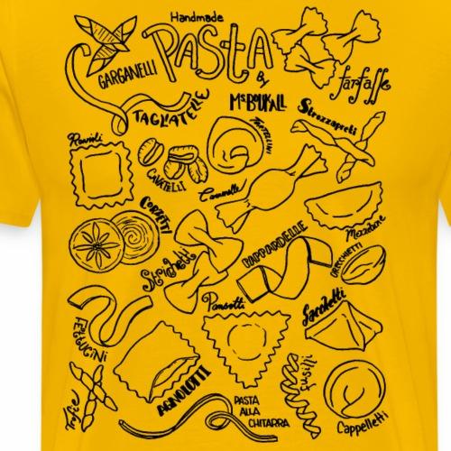 Pasta- Black - Men's Premium T-Shirt