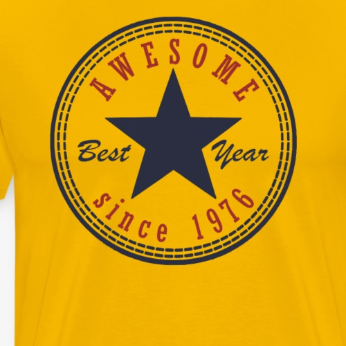 41st Birthday Awesome since T Shirt Made in 1976 - Men's Premium T-Shirt