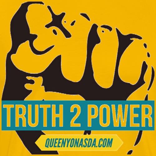 TRUTH 2 POWER BLACK - Men's Premium T-Shirt