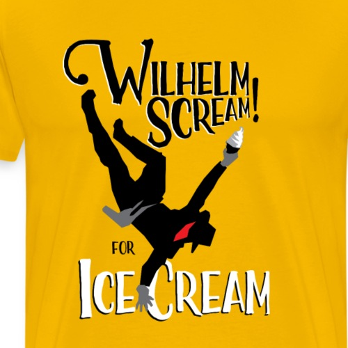 Wilhelm Scream for Ice Cream - Men's Premium T-Shirt