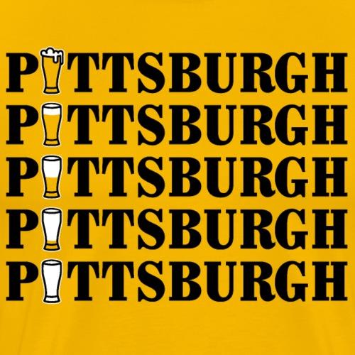 Beer in Pittsburgh - Men's Premium T-Shirt