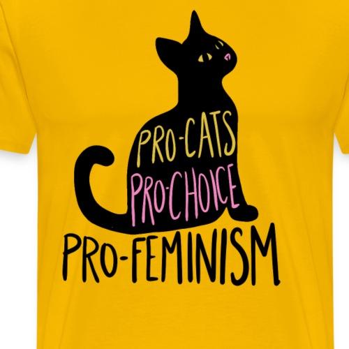 Pro-cats pro-choice pro-feminism - Men's Premium T-Shirt