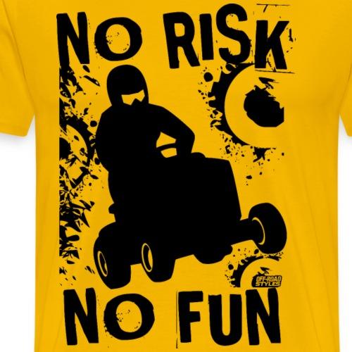 Lawnmower Racer No Risk - Men's Premium T-Shirt