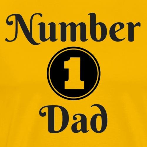 Number 1 Dad - Men's Premium T-Shirt