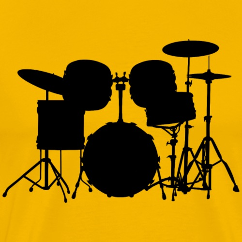Drumset 1 black - Men's Premium T-Shirt