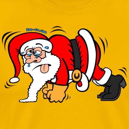 Santa Claus Doing Pushups - Men's Premium T-Shirt