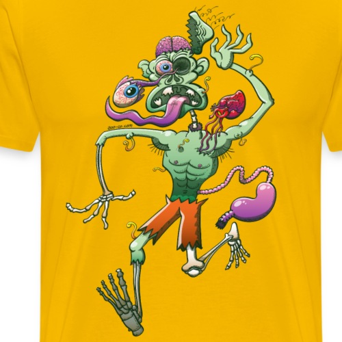 Zombie in Trouble Falling Apart - Men's Premium T-Shirt