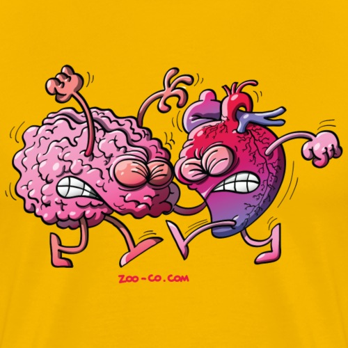 Heart vs Brain - Men's Premium T-Shirt