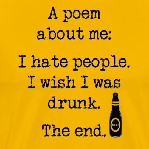 I Wish I Was Drunk Women's Long Sleeve T-Shirt - Men's Premium T-Shirt