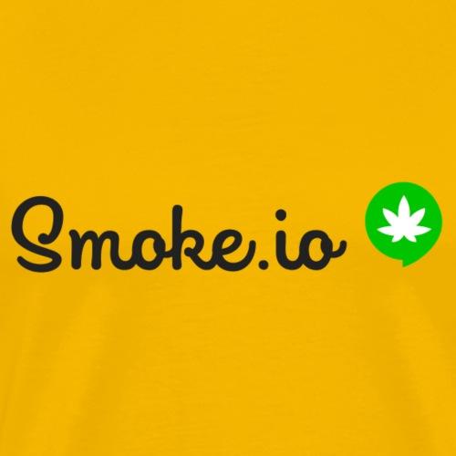 SMOKE IO logo with background - Men's Premium T-Shirt