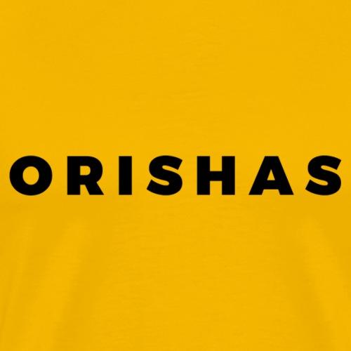 Orishas (Medium Black Letters) - Men's Premium T-Shirt