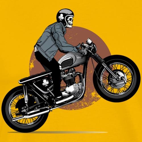 skeleton biker - Men's Premium T-Shirt