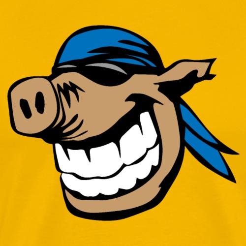 Biker Hog Head - Men's Premium T-Shirt
