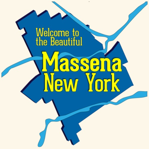 Massena NY Blue - Men's Premium T-Shirt