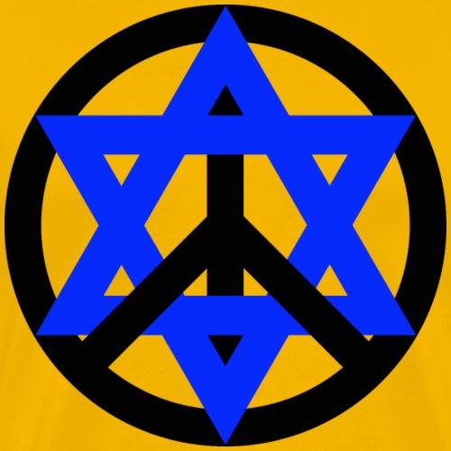 Star of David and Peace Sign - Men's Premium T-Shirt