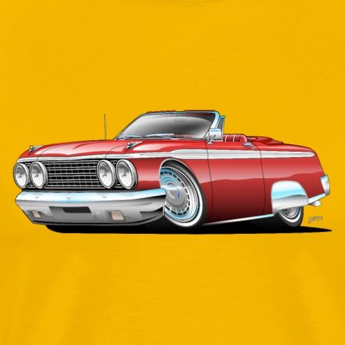 Sixties American Classic Car Convertible Cartoon - Men's Premium T-Shirt