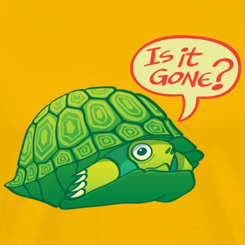 Turtle asking if it's good time to go out of shell - Men's Premium T-Shirt