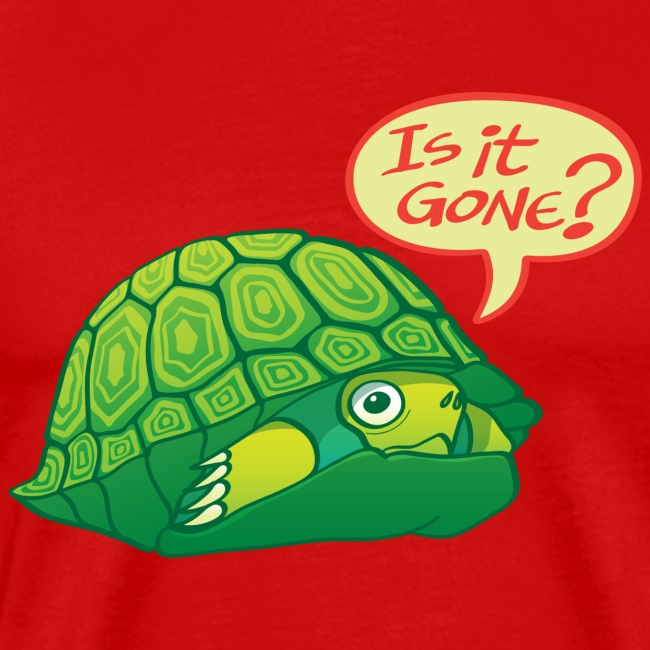 Turtle asking if it's good time to go out of shell
