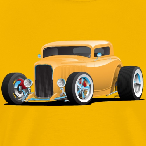 Classic American 32 Hotrod Car Illustration - Men's Premium T-Shirt