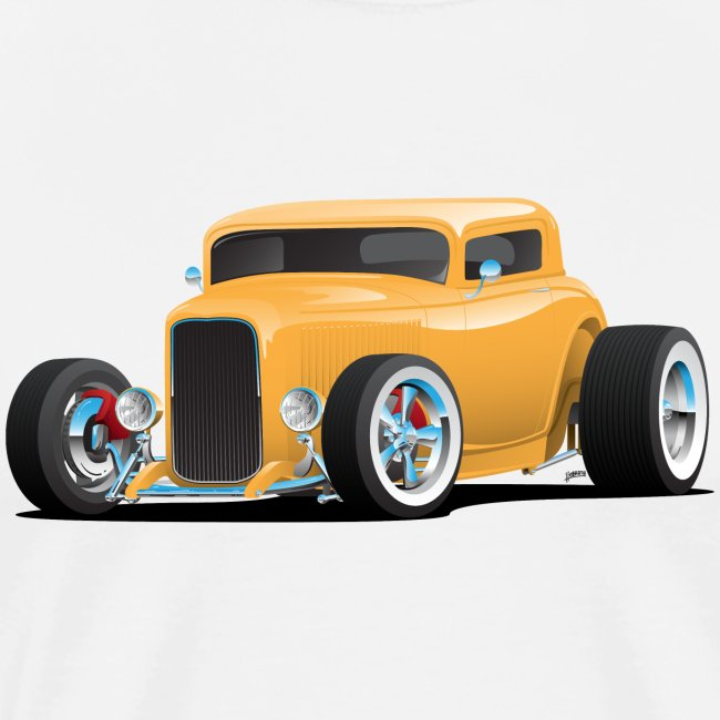 Classic American 32 Hotrod Car Illustration