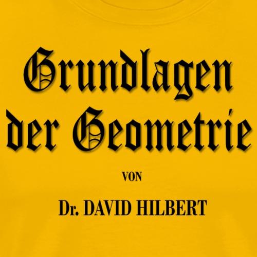 Grundlagen der Geometrie, by David Hilbert - Men's Premium T-Shirt