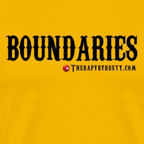 Boundaries Black Type - Men's Premium T-Shirt