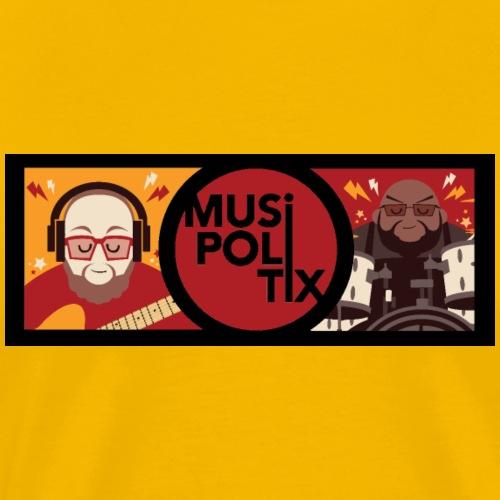 MUSiPOLiTiX Sara Banner #2 (black background) - Men's Premium T-Shirt
