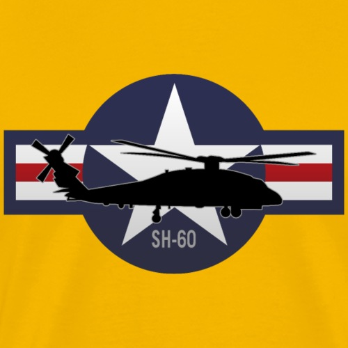 SH-60 Seahawk Military Helicopter - Men's Premium T-Shirt