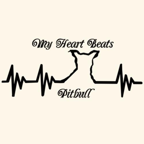 My Heart Beats Pitbull - Men's Premium T-Shirt