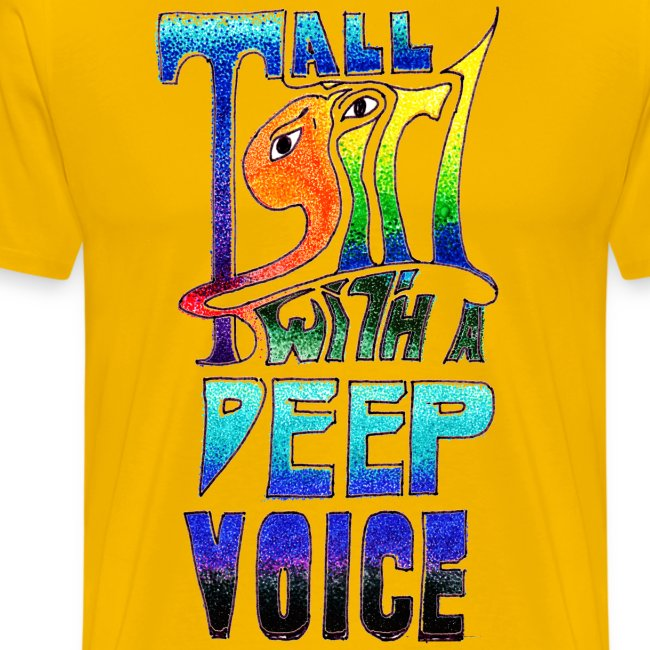 Tall Girl with a Deep Voice (dark lines)