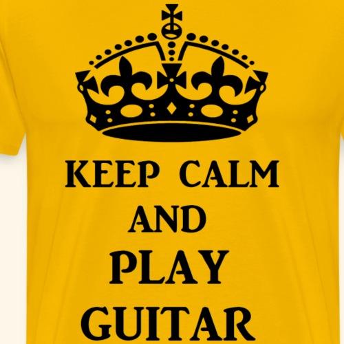 keep calm play guitar blk - Men's Premium T-Shirt