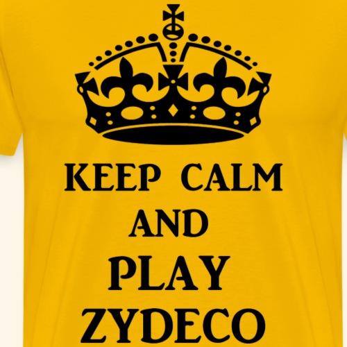 keep calm play zydeco blk - Men's Premium T-Shirt