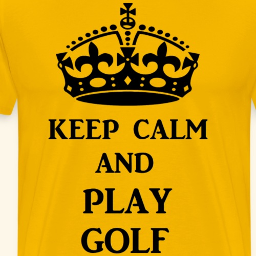keep calm play golf blk - Men's Premium T-Shirt