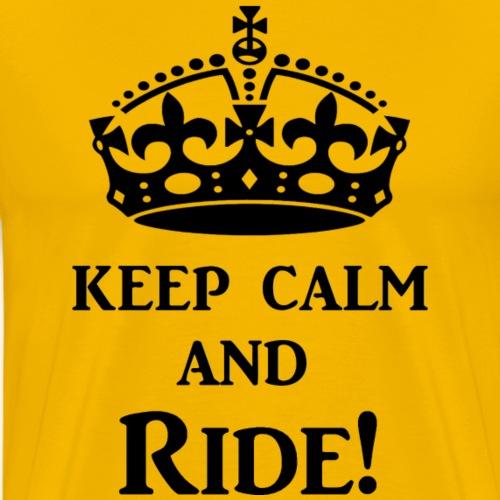 keep calm ride blk - Men's Premium T-Shirt
