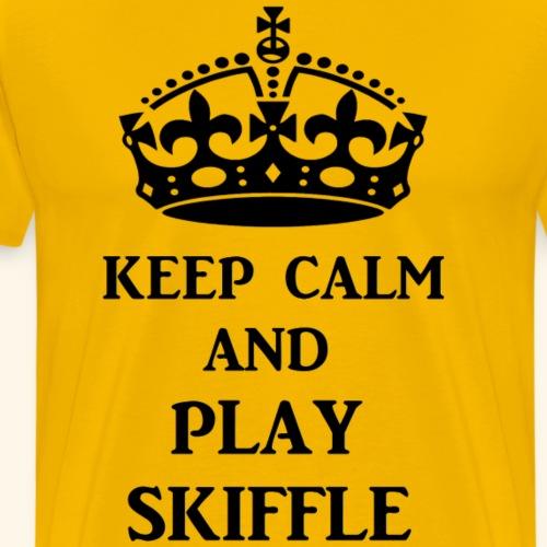 keep calm play skiffle bl - Men's Premium T-Shirt
