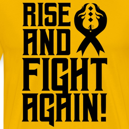 Rise and Fight Again (Black) - Phoenix League 2020 - Men's Premium T-Shirt