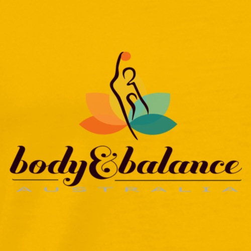 Body and Balance Australia logo text black - Men's Premium T-Shirt