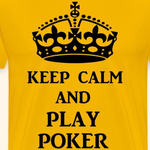 keep calm play poker blk - Men's Premium T-Shirt