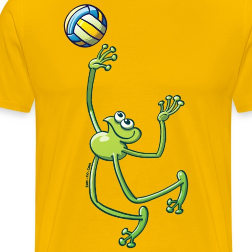 Olympic Volleyball Frog - Men's Premium T-Shirt