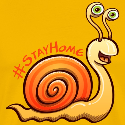 Cool snail nicely inviting to stay at home - Men's Premium T-Shirt