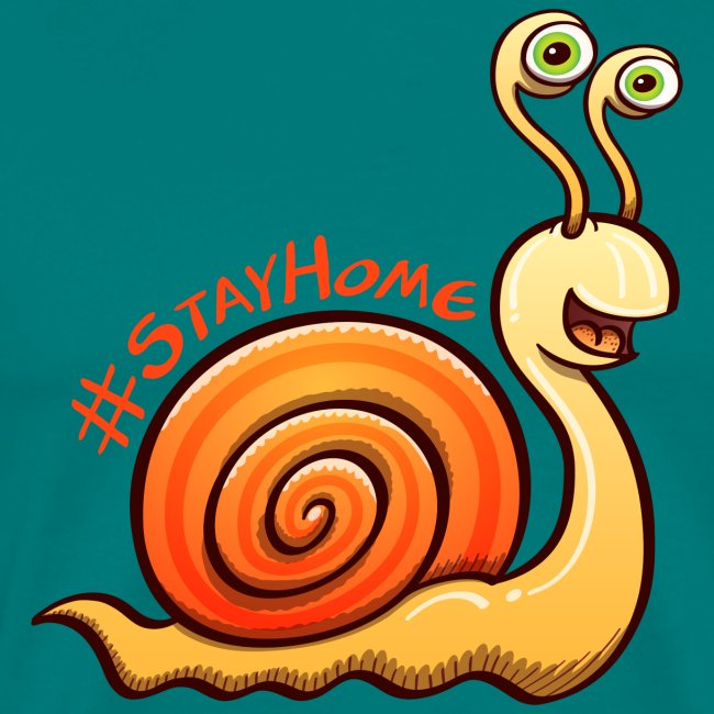 Cool snail nicely inviting to stay at home