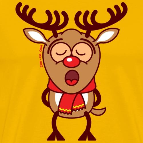 Sweet Reindeer Singing Inspired Xmas Songs - Men's Premium T-Shirt